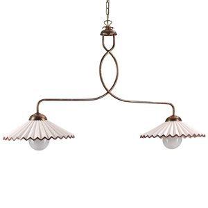 ONLI Závesná lampa Rosina 2-pl., svetloružová/bronz