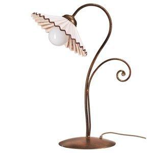 ONLI Stolná lampa Rosina bronz s keramickým tienidlom