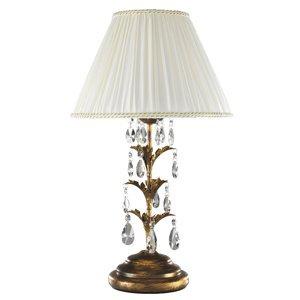 ONLI Stolná lampa Teresa krištále a textilné tienidlo
