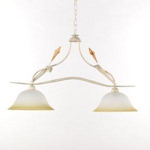 ONLI Závesná lampa Lucrezia dvoj-plameňová, slonovina