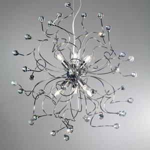 ONLI Závesná lampa Trilly v chrómovej s krištáľmi