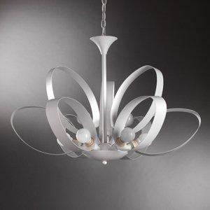 ONLI Závesná lampa Serena, deväť-plameňová, biela