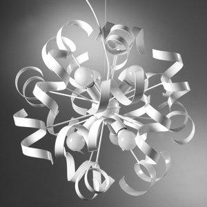 ONLI Závesná lampa Zoe z kovu, šesť-plameňová, biela