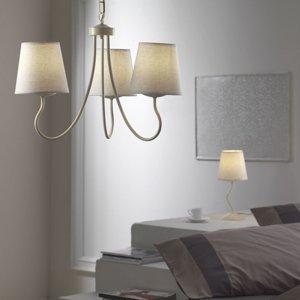 ONLI Závesná lampa Margot tri látkové tienidlá v bielej