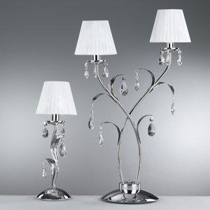 ONLI Stolná lampa Jacqueline, jedno-plameňová, biela