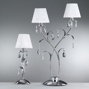 ONLI Stolná lampa Jacqueline, dvoj-plameňová, biela