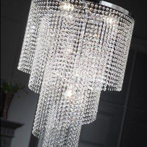 ONLI Stropné svietidlo Elica krištáľová špirála Ø 35cm