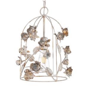 ONLI Závesná lampa Carolina – klietka s ružovým dekórom