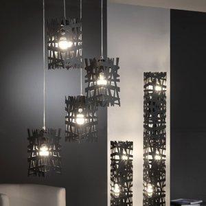 ONLI Stojaca lampa Foresta z čierneho kovu výška 102cm