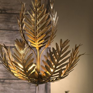ONLI Závesná lampa Felce ako papradie v bronzovej