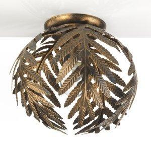 ONLI Stropné svietidlo Felce papradie bronz, Ø 27cm