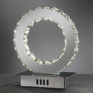 ONLI Stolná LED lampa Saturno krištáľové sklo, 22cm