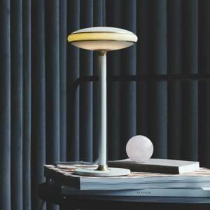 SHADE LIGHTS Shade ØS1 stolná LED kruhy mosadz podstavec biely