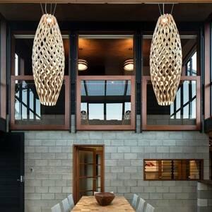 DAVID TRUBRIDGE david trubridge Hinaki závesná lampa 50cm prírodná