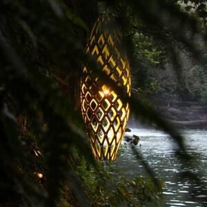 DAVID TRUBRIDGE david trubridge Hinaki závesná lampa 50cm karamel