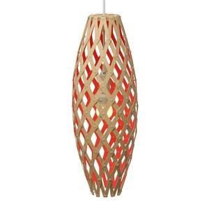 DAVID TRUBRIDGE david trubridge Hinaki závesná 50cm bambus-červená