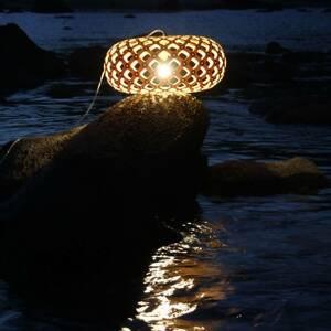 DAVID TRUBRIDGE david trubridge Kina závesná lampa Ø 80cm karamel