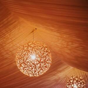 DAVID TRUBRIDGE david trubridge Sola závesná lampa Ø 80cm karamel