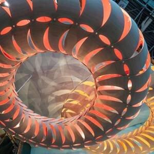 DAVID TRUBRIDGE david trubridge Maru závesná 110cm bambus-červená