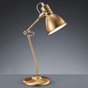 Trio Lighting Stolná lampa Keali nastaviteľná starožitná mosadz