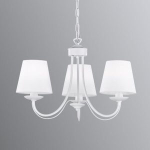 Trio Lighting Visiaci luster Cortez, biely, 3-plameňový