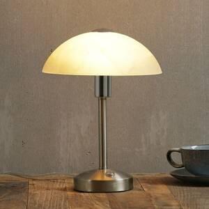 Trio Lighting Stolná LED lampa Donna dotykový stmievač nikel