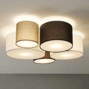 Trio Lighting Stropné svietidlo Hotel s 5 textilnými tienidlami