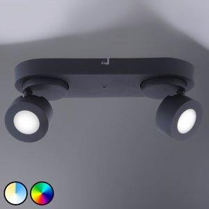 Trio Lighting Trio WiZ Sancho LED reflektor 2-plameňový čierny