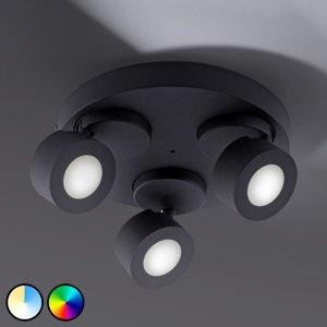 Trio Lighting Trio WiZ Sancho stropné LED svietidlo 3-pl. čierne