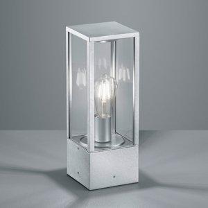 Trio Lighting Soklové svietidlo Garonne v zinkovom vzhľade