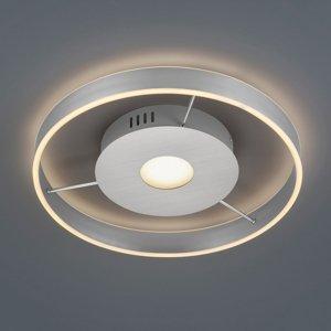 Trio Lighting Stropné LED Logan, 2700 – 6000K, nikel matný