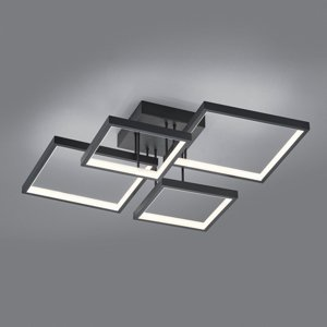 Trio Lighting Stropné LED Sorrento 52x52cm, čierne matné