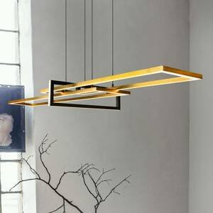 Trio Lighting Závesné LED svietidlo Salinas 3000K matná mosadz