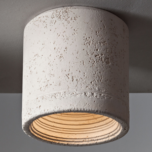 Toscot Stropné svietidlo Carso v krémovej, 13cm