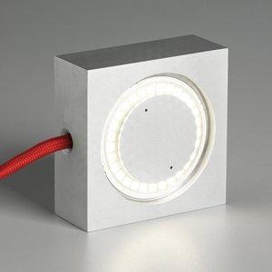 TECNOLUMEN TECNOLUMEN Square LED lampa červený napájací kábel