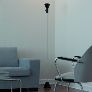 TECNOLUMEN Zoznam TEC – stojaca LED lampa, čierna