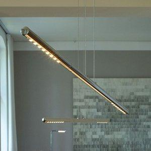 TECNOLUMEN TECNOLUMEN LUM S závesná lampa, 85cm, chróm