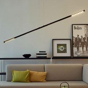 TECNOLUMEN TECNOLUMEN LUM L závesná lampa, 135cm, čierna