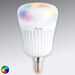 iDual E14 iDual LED 7W RGB bez diaľkového ovládania