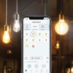 WiZ WiZ E27 LED G95 filament jantár 6,5W 2000–4500K