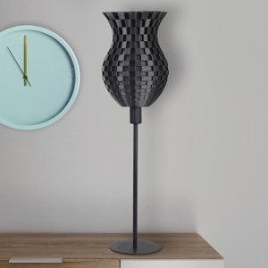 Tagwerk Stolná lampa Flechtwerk, 3D-tlač, grafit