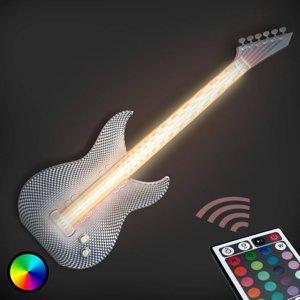 Tagwerk Rockové nástenné LED svietidlo Gitara 3D tlačiarne