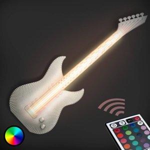 Tagwerk Gitara – biele nástenné LED svietidlo, 3D výtlačok
