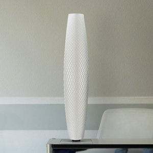 Tagwerk Stojaca LED lampa Flechtwerk Pur biela 75cm