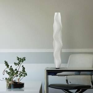Tagwerk Stojaca LED lampa Flechtwerk Kaktus 75cm, biela