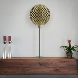 Tagwerk Stolná lampa Flechtwerk Kugel, zlatá