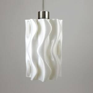 Tagwerk Závesná lampa Amöbe, 3D tlač, biela