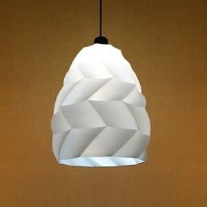 Tagwerk Závesná lampa Kokon, biela