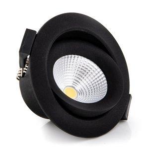 THE LIGHT GROUP SLC One 360° zapustené LED svietidlo čierne 2700K