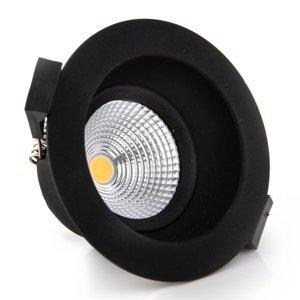 THE LIGHT GROUP SLC One Soft zapustené LED svietidlo čierne 2700K